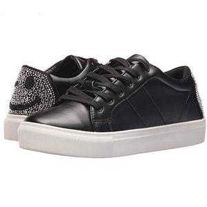 Steve Madden Smiley Rhinestone Sneakers - Size 5.5